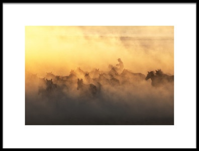 Buy this art print titled Ylk Horses by the artist Özden Sözen