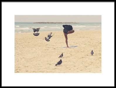 Art print titled Yoga by the artist Oranit Turgeman