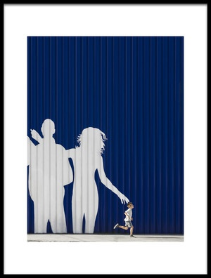 Art print titled Young Couple With Son by the artist Andrés Gámiz