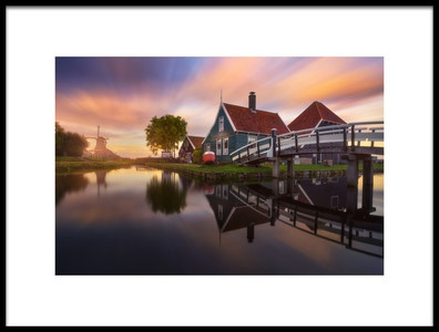 Art print titled Zaanse Schans by the artist Carlos F. Turienzo