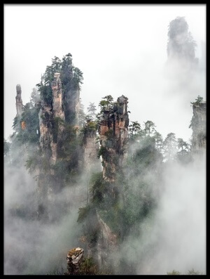 Art print titled Zhangjiajie by the artist Hua Zhu