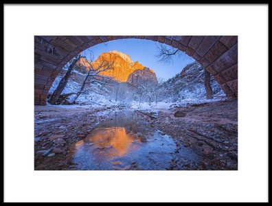 Art print titled Zion National Park02 by the artist April Xie