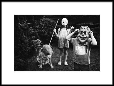 Art print titled Zombies Hunting by the artist Monika Strzelecka