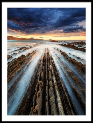 Buy this art print titled Zumaia Flysch by the artist Juan Pablo de Miguel
